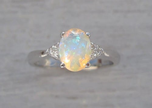 Antique Style Opal Engagement Rings