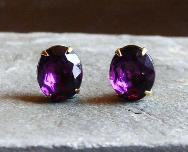 Birthstones Amethyst Earrings