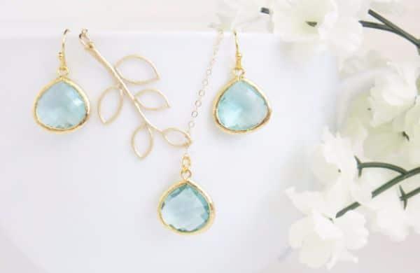Birthstones Aquamarine Necklaces