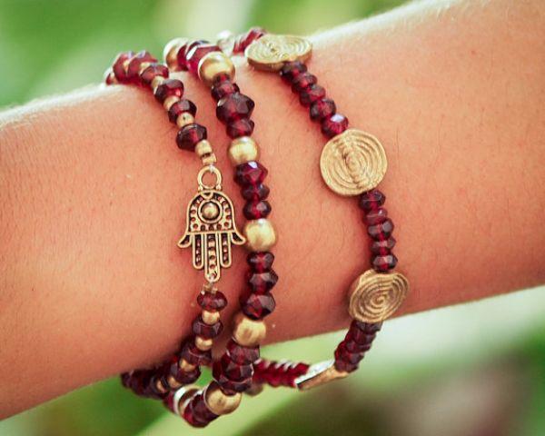 Birthstones Garnet Bracelets