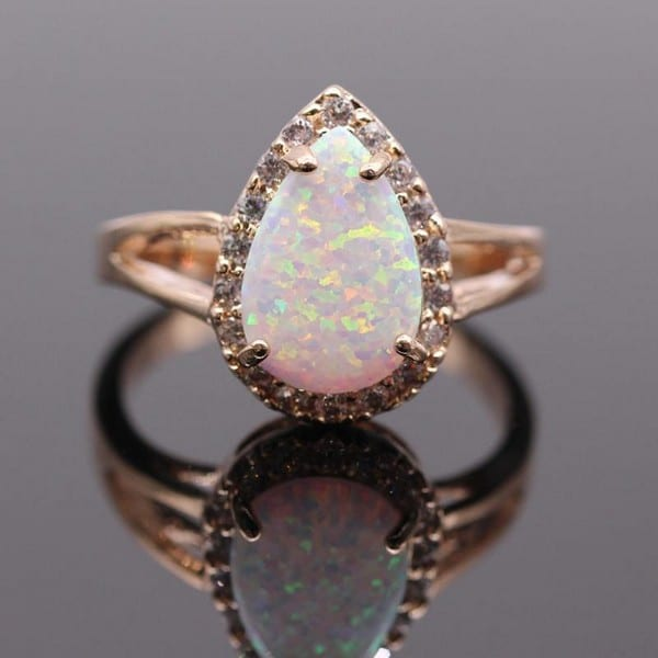 Birthstones Opal Ring