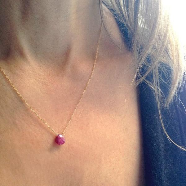 Birthstones Ruby Necklaces