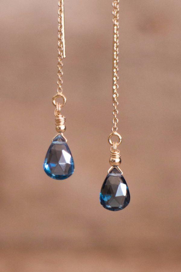 Birthstones Topaz Earrings