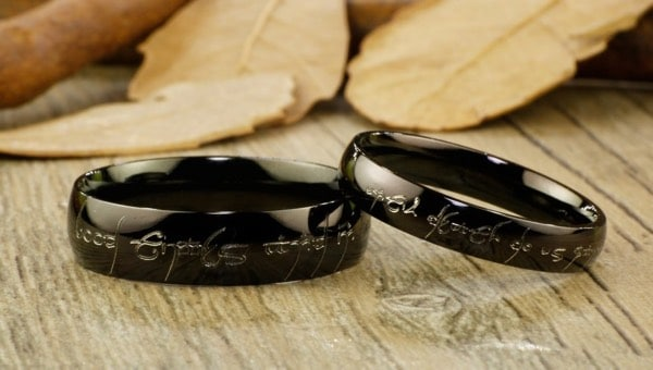 Black Couples Ring Set