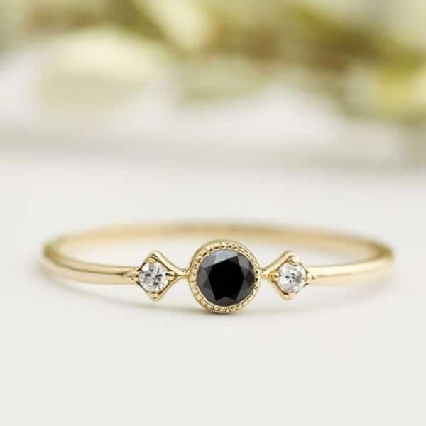 Black Diamond Engagement Rings Canada
