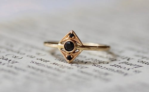Black Diamond Ring Womens