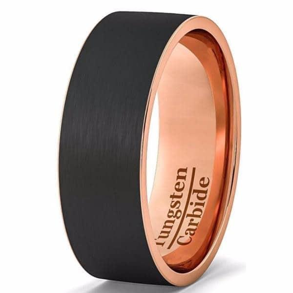 Black Diamond Rose Gold Engagement Rings