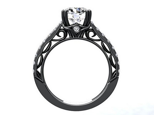 Black Gold Engagement Rings Cheap