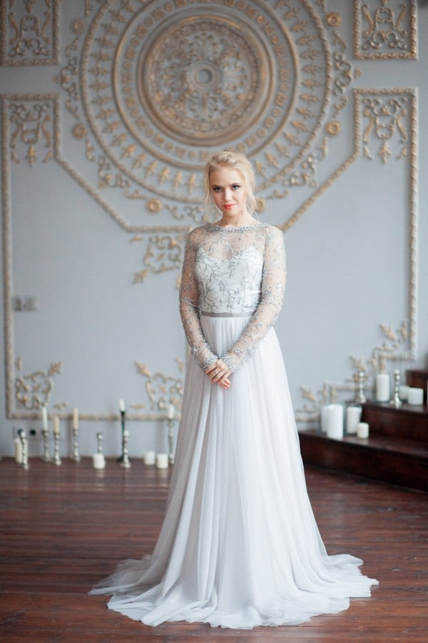 Bohemian Wedding Dresses With Sleeves