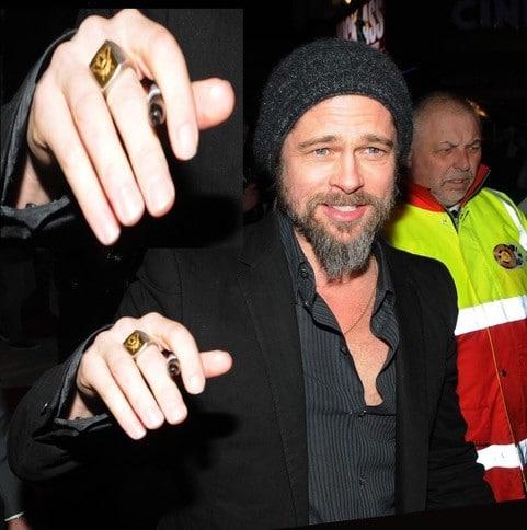 Brad Pitt Illuminati Ring
