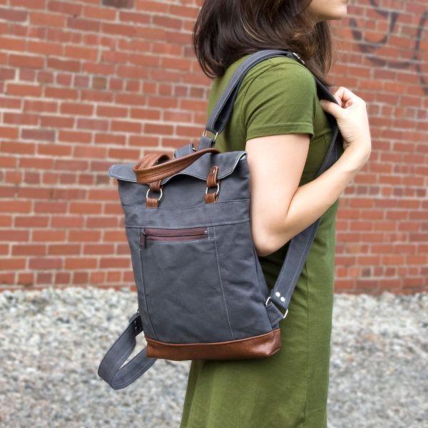Canvas Mini Backpack