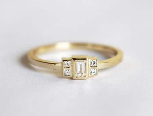 Clear Diamond Engagement Rings For Women