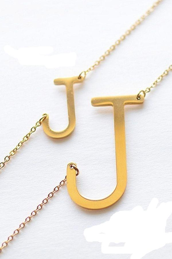 couples initial necklaces