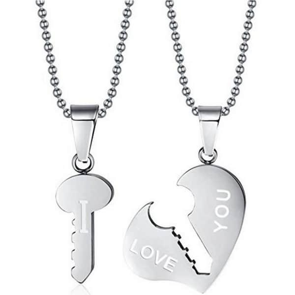Couple Name Necklace Set