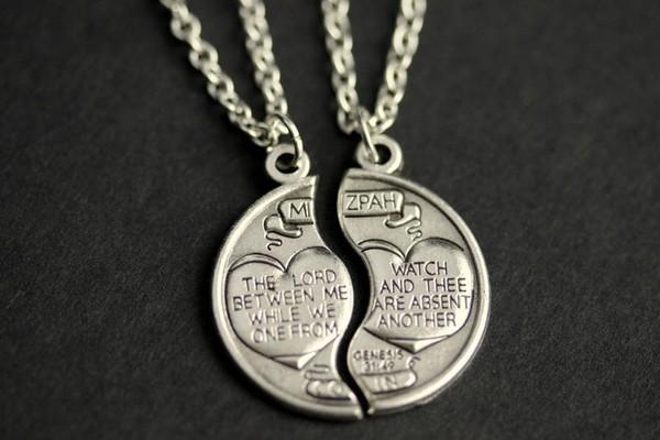 Couple Puzzle Piece Necklace Set