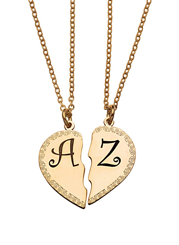 Couples Necklaces Engraved