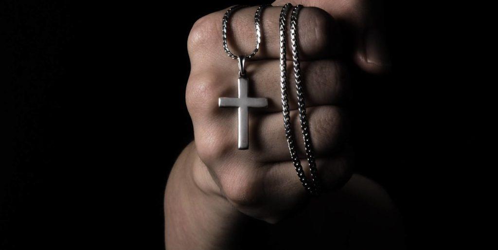 Cross necklace for men