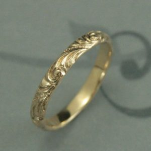 D Shaped Wedding Ring