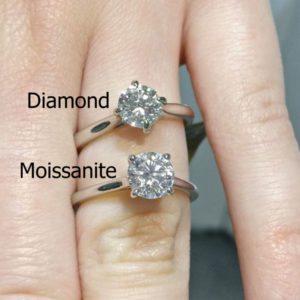 Moissanite vs Diamond Engagement Ring