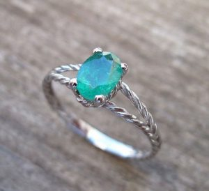 Emerald Rings In Sterling Silver
