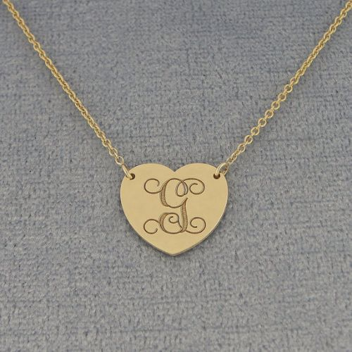Engraved Heart Necklaces