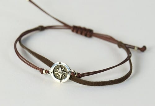 Engraved Mens Bracelets Leather