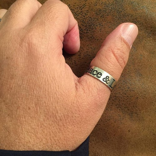 Engraved Silver Ring For Men