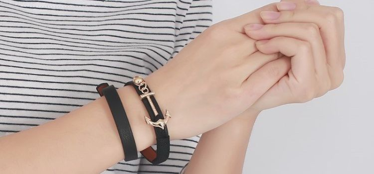 fashionable mens leather bracelets 1