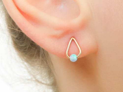 Genuine Opal Earings