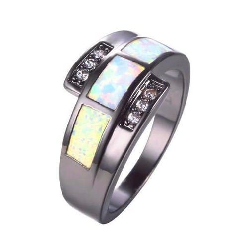 Genuine Opal Engagement Rings