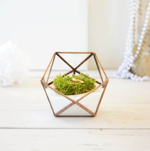 Geometric Ring Holder Wedding Gift