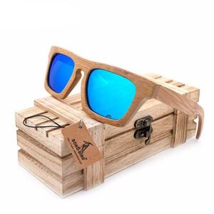 Gold And Wood Sunglasses
