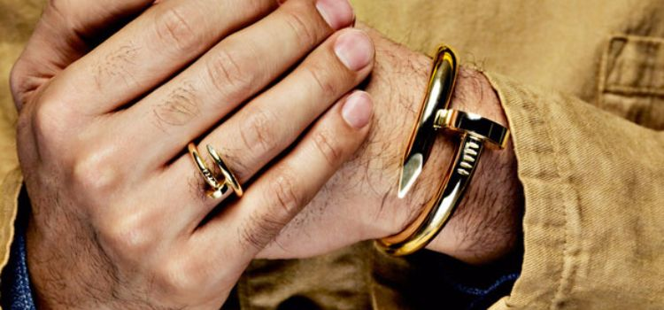 gold bracelets for men ring to perfection