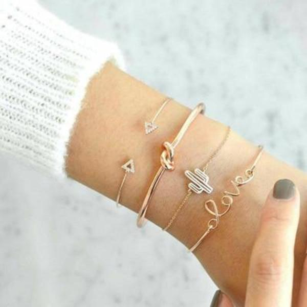 Gold Bracelets For Women Bohemian Set