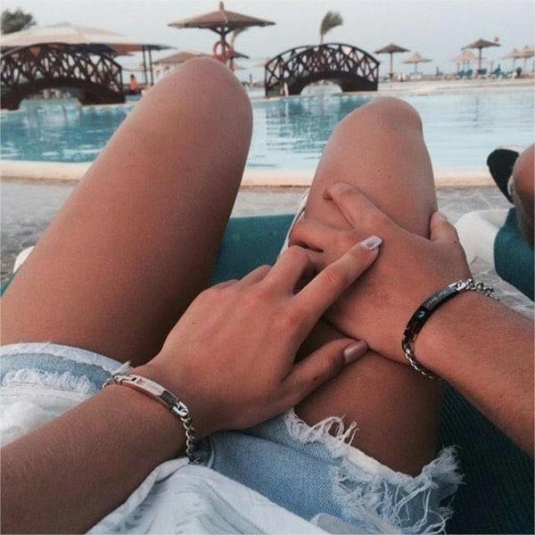 gold couple bracelets