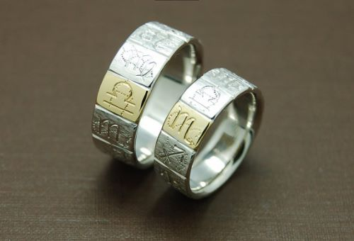 Gold Couple Rings Designs