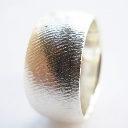 Handmade Solid Silver Mens Ring To Perfection Wedding Band