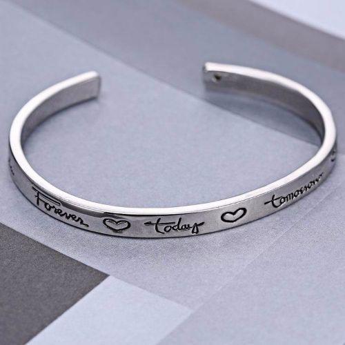 Handstamped Bracelets For Couples