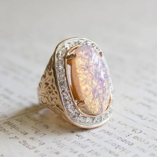 Harlequin Opal Engagement Rings