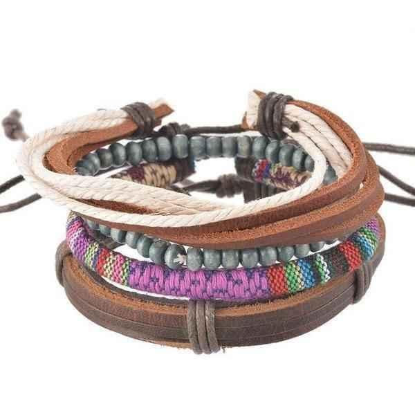 Leather Cuff Bracelet Womens