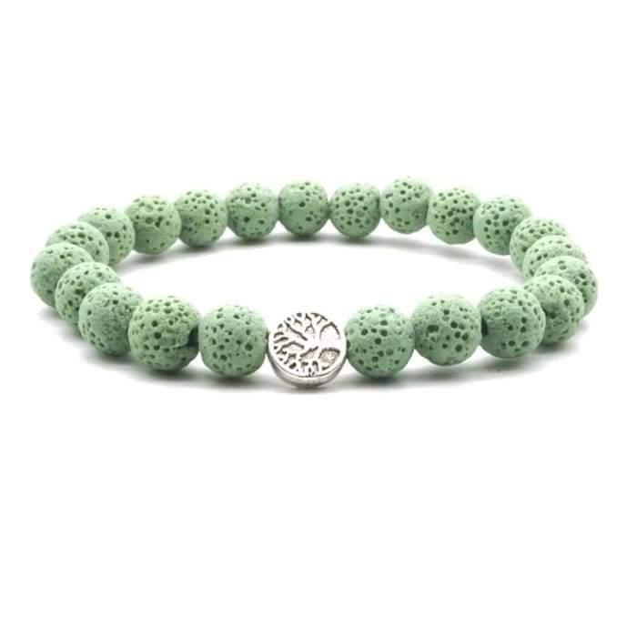 light green lava stone tree of life essential oil bracelet accessories accessorize jewelry fuze body fashion
