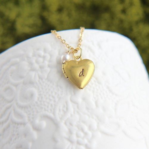 Locket Necklace Engraved