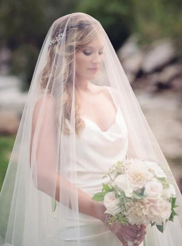 Blusher Wedding Veil with Comb