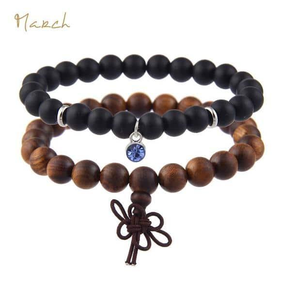 March Birthstones Bracelet Set