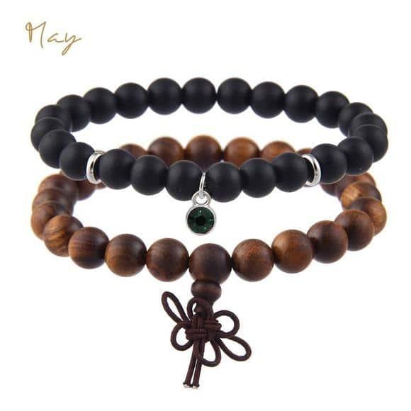 May Birthstones Bracelet Set