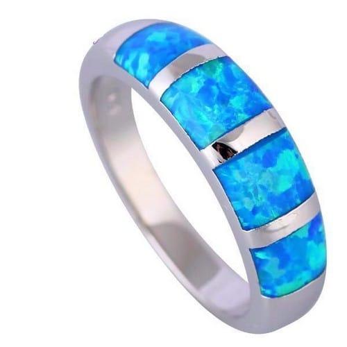 Mint Opal Engagement Ring