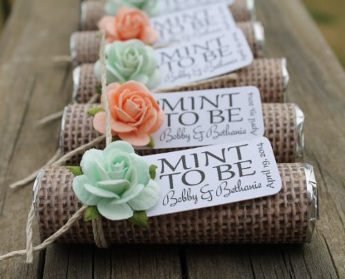 Mint Wedding Favors for Guests Perfection