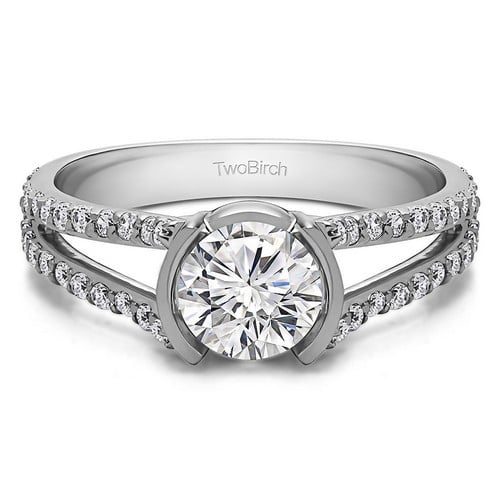 Moissanite Pear Shaped Engagement Rings