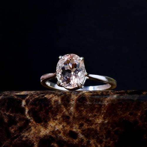 Morganite And Diamond Engagement Ring