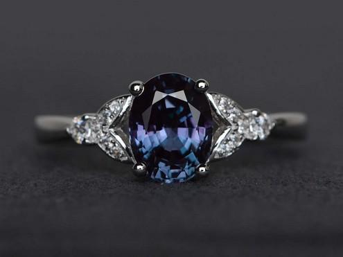 Natural Alexandrite Rings Tiffany